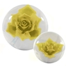 Clear Yellow Rose Bowling Ball