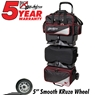 KR Lane Rover 6 Ball Bowling Bag- Black/Silver/Red