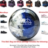 Brunswick T-Zone Indigo Swirl Bowling Ball, KR Strikeforce Shoe and Moxy Bag Package