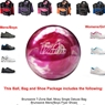 Brunswick T-Zone Pink Bliss Bowling Ball,KR Strikeforce Shoe and Moxy Bag Package