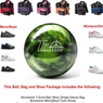 Brunswick T-Zone Green Envy Bowling Ball, KR Strikeforce Shoe and Moxy Bag Package
