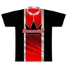 Brunswick Bowling Dye-Sublimated Jersey- Red/Black/Silver