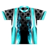 Storm Bowling Dye-Sublimated Jersey- Aqua/Black