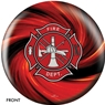 Fire Department Red Swirl Bowling Ball