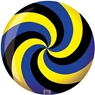 Brunswick Spiral Yellow/Black/Blue PRE-DRILLED Viz-A-Ball Bowling Ball