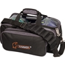 Hammer Double Tote Bowling Bag- Black/Carbon