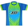 Columbia 300 Bowling Speed Dye-Sublimated Jersey- Lime/Blue/Teal