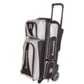 Brunswick Crown Triple Roller Bowling Bag- Silver