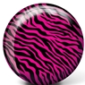 Brunswick Pink Zebra Glow PRE-DRILLED Viz-A-Ball Bowling Ball