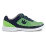 Brunswick Mens Frenzy Bowling Shoes- Navy/Green