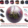 Moxy Exothermic Burst Bowling Ball, KR Strikeforce Shoe and Moxy Bag Package