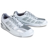 Brunswick Mens Phantom Bowling Shoes- White/Silver