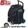 KR Lane Rover 2 Ball Bowling Bag- Black/Grey/Royal
