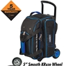 Hammer Signature 2 Ball Roller Bowling Bag- Black/Royal