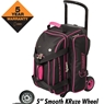 Hammer Signature 2 Ball Roller Bowling Bag- Black/Magenta
