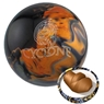 Ebonite Cyclone PRE-DRILLED Bowling Ball- Black/Gold/Silver