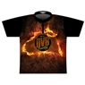 DV8 Dye-Sublimated Jersey -Orange/Black