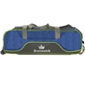 Brunswick Crown Deluxe Triple Tote Roller Bowling Bag- Navy/Lime