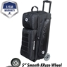 Ebonite Eclipse Triple Roller Bowling Bag- Black