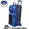 Ebonite Eclipse Triple Roller Bowling Bag- Royal