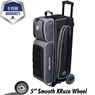 Ebonite Eclipse Triple Roller Bowling Bag- Smoke