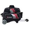 900 Global Deluxe 2 Ball Roller Bowling Bag- Black/Red/Silver