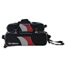 900 Global 3 Ball Airline Tote Roller Bowling Bag w/ Removeable Pouch- Black/Red/Silver