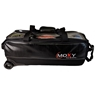 Moxy Vintage Slim Triple Bowling Bag- Black Leather