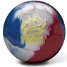 Brunswick Twist Reactive PRE-DRILLED Bowling Ball- Red/White/Blue