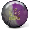 Brunswick Rhino Reactive PRE-DRILLED Bowling Ball- Charcoal/Silver/Violet