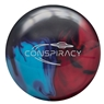 Radical Conspiracy Hybrid Bowling Ball- Sky Blue/Purple Solid/Red Pearl