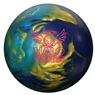 Roto Grip Halo Vision Bowling Ball- Gold Sky Blue Pearl/Purple Solid