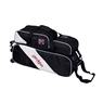 KR Strikeforce Fast Slim Triple Bowling Bag with Pouch- Black/White