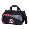 KR Players Double Tote Bowling Bag - Black/Red
