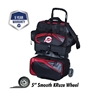 Ebonite Players  4 Ball Roller Bowling Bag - Black/Red