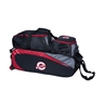 Ebonite Players 3 Ball Tote Bowling Bag w/ Shoe Pouch - Black/Red