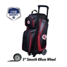 Ebonite Players Triple Roller Bowling Bag- Black/Red