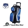 Ebonite Players Triple Roller Bowling Bag- Royal/White