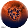 Chicago Bears NFL On Fire Bowling Ball