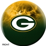Green Bay Packers NFL On Fire Bowling Ball
