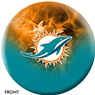 Miami Dolphins NFL On Fire Bowling Ball