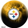 Pittsburgh Steelers NFL On Fire Bowling Ball