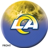 Los Angeles NFL On Fire Bowling Ball