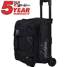 KR Hybrid Double Roller Bowling Bag- Black