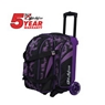 KR Cruiser Scratch Double Roller Bowling Bag - Purple