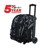 KR Cruiser Scratch Double Roller Bowling Bag - Steel