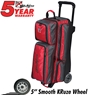 KR Konvoy Triple Roller Bowling Bag- Red/Smoke