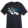 Blue Flame Ball and Pins Bowling T-Shirt