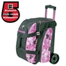 Brunswick Image Hearts All Over Double Roller Bowling Bag- Pink/Black