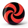 Brunswick Spiral Viz A Ball Bowling Ball- Red/Black